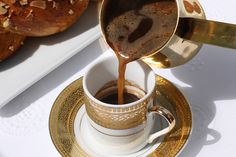 Greek Coffee (Ellinikos Kafes) I believe in boiling three times, stirring once! It makes this amazing caramel flavor that is delightful.