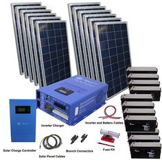 Aims Power, 3180 Watt Solar With Watt Pure Sine Power Inverter Charger Off Grid Kit Solar Energy Panels, Solar Panels For Home, Best Solar Panels, Off Grid Solar Power, Solar Roof Tiles, Solar Projects, House Projects, Solar Charger, Roofing Systems