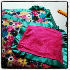 Ruffle blanket