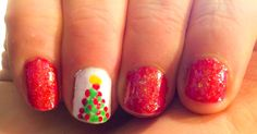Christmas nails, simple and pretty!