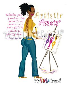 Artistic+Assets+African+American+Print+by+MyJunkyTrunk+on+Etsy,+$15.00
