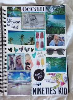 collage discovered by Paty Pegorin on We Heart It Notebook Collage, Diy Notebook, Notebook Covers, Collage Book, Tumblr Scrapbook, Scrapbook Journal, Friend Scrapbook, Wreck This Journal, My Journal