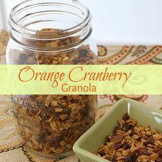 Cranberry Orange Granola Recipe
