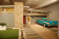 """American Dream"" (Full-sized replica of facade and garden of a 1950s American suburban home) 