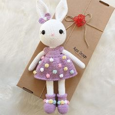 Educational and interesting ideas about amigurumi, crochet tutorials are here. Easter Crochet Patterns, Crochet Bunny Pattern, Crochet Rabbit, Crochet Amigurumi Free Patterns, Crochet Bear, Cute Crochet, Crochet Crafts, Crochet Projects, Doll Patterns Free