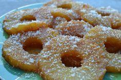 Ananas caramélisé à la noix de coco