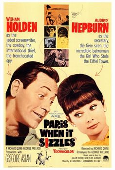 Paris When It Sizzles Audrey Hepburn Movie Film Poster Print Picture Old Movies, Vintage Movies, Great Movies, Classic Movie Posters, Classic Movies, Cinema Posters, Film Posters, Audrey Hepburn Movies, Fred Astaire