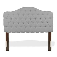 Fashion Bed Group Saint Lucia Adjustable Upholstered Headboard with Button-Tufted Design (Twin), Grey