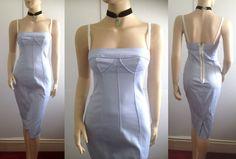 BNWT DOLCE & GABBANA D&G blue balcony corset pinup bombshell DRESS size 10 8 42 #DolceGabbana #StretchBodycon #Formal