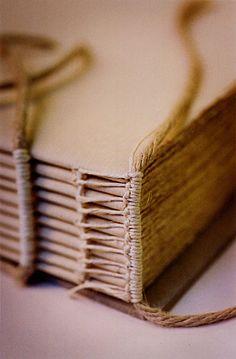 linen sketchbook with a headband by Zoopress studio