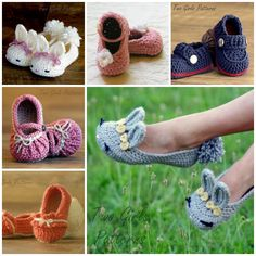 crochet baby and moms slippers F