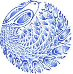 Flower circle, hand drawn, vector illustration in Ukrainian folk style - - Russian Folk Art, Ukrainian Art, Scandinavian Folk Art, Flower Circle, Folk Fashion, Floral Illustrations, Fabric Painting, Bird Art, Ukraine