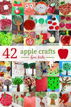 All types of apple crafts for kids to create, including apple tree crafts! Plus there's some crafty ways to get the kids learning with apples!
