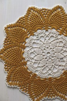 Your place to buy and sell all things handmade Crochet Dollies, Crochet Doily Patterns, Crochet Squares, Crochet Flowers, Crochet Stitches, Crochet Home, Crochet Gifts, Hand Crochet, Shabby