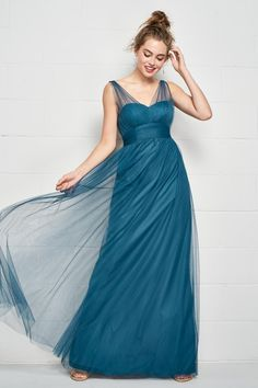 8121214e Style 534 from Wtoo is a modern take on a classic bridesmaid dress. Sheer  Bobbinet delicately covers the sleeveless V neck bodice as it wraps around  the ...