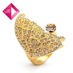 Aliexpress.com : Buy Free Shipping (No Min Order) Neoglory finger 14k gold plated ring tin alloy engagement ring for Female luxury princess rings from Reliable 14k gold plated ring suppliers on NEOGLORY JEWELRY
