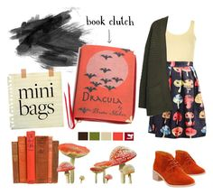 """book clutch"" by swantjevieth on Polyvore featuring Mode, Clarks, Topshop, WithChic und MANGO"