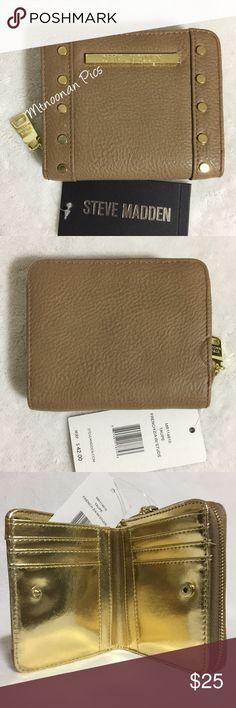 Selling this Steve Madden Taupe French Zip Around Wallet Studs on Poshmark! My username is: mtnoonan. #shopmycloset #poshmark #fashion #shopping #style #forsale #Steve Madden #Handbags
