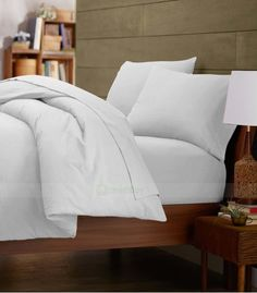 White Double Egyptian Cotton Quilt Duvet Cover + Sheet Choice - 1000TC Double Duvet Covers, Single Duvet Cover, King Duvet, Queen Duvet, Egyptian Cotton Bedding, White Duvet, Quilt Cover Sets, Cotton Quilts, Bed Pillows