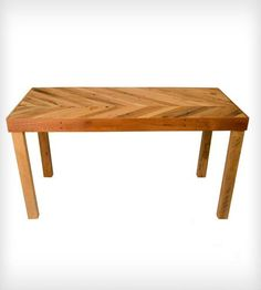 [Scoutmob Shoppe ATL] Inez Chevron Reclaimed Table | The Inez Chevron Table is specifically designed to add some ru... | Kitchen & Dining Room Tables