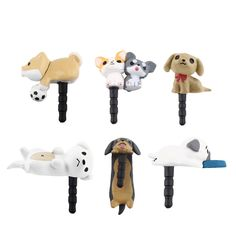 Cute Puppy Dog 3.5Mm Anti Dust Earphone Jack Plug Stopper Cap For Phone Ht