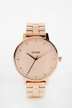 Nixon Kensington Rose Gold Watch | urban outfitters