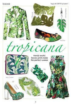 palm leaves prints, more style at www.BellaMagazine.eu