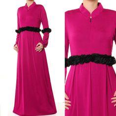 FREE SHIPPING WORLDWIDE!! Mandarin Neck Islamic Abaya Long Sleeves Maxi Dress by MissMode21, $28.00