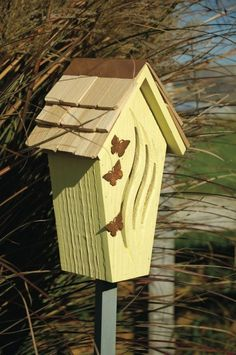 Butterfly House | Yellow Butterfly House - Copper Trim