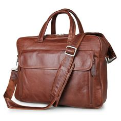 102.99$  Know more - http://aiytl.worlditems.win/all/product.php?id=32711396030 - Nesitu Large Capacity Vintage Genuine Leather Men Messenger Bags Business Travel Bags 15.6'' Laptop Briefcase Portfolio #M7333