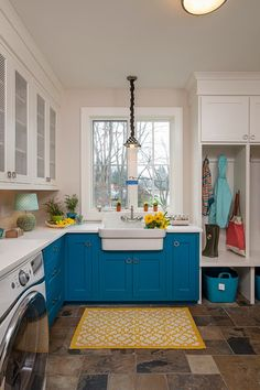 Transitional Laundry Room by Laura Zender Design, Allied ASID