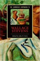 The Cambridge Companion to Wallace Stevens / [eBook]  Edited by John N. Serio.  (Series: Cambridge Companions to Literature)