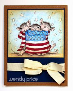 Supplies Used: Stampendous (House Mouse Star Spangled Mice) Spectrum Noir (BG1, BG3, BG5, DR6, TB2, TB3, TB4)