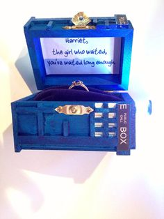 @Karen Jacot Sindayen: Just In Case It Ever Comes In Handy! ;) Doctor Who  Inspired TARDIS Wedding Invitations, Blue Police Box Invites For Geek U2026