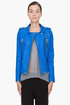 love blue leather