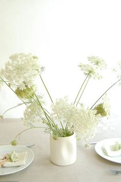 Wilflowers.    Decorate with roadside wildflowers: in this case, Queen Anne's Lace.