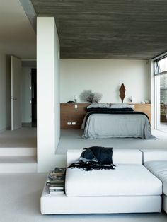 lovely bedroom space by les interieurs