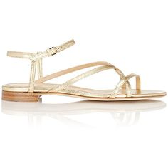 Sergio Rossi Bonton Multi-Strap Sandals (3.015 VEF) ❤ liked on Polyvore featuring shoes, sandals, colorless, leather sole sandals, open toe flat sandals, ankle strap flat sandals, flat shoes and leather sole shoes