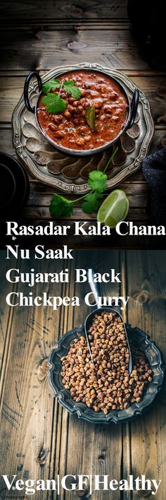 Jagruti's Cooking Odyssey: Rasadar Kala Chana Nu Saak - Gujarati Black Chickpea Curry