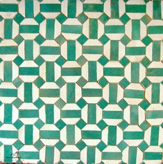 Tiles - Are you thinking of updating your flooring but you have no idea what you want to do? Bathroom Floor Tiles, Tile Floor, Bathroom Green, Shower Floor, Green Mosaic Tiles, Mosaic Backsplash, Artistic Tile, Geometric Tiles, Encaustic Tile