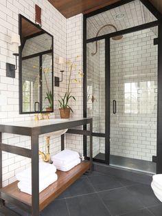 Love this! Gorgeous bathroom design by Summer Thornton Design Inc.