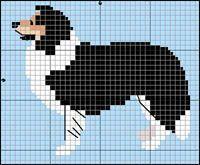 knit chart rough collie - Google-haku