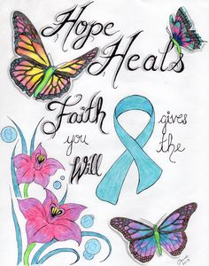 There are countless types of ovarian cancer. Ovarian cancer that starts externally of the ovary Eternal-Wellbeing Ovarian Cancer Awareness, Cervical Cancer, Abnormal Cells, Cancer Quotes, Teal Ribbon, Awareness Ribbons, Infant Activities, Butterfly Quotes