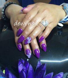 Deep purple with matte 3D flower