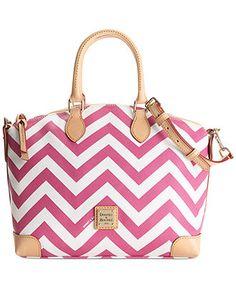 So cute!!! I MUST have this...Dooney & Bourke Chevron Satchel - Handbags & Accessories - Macy's
