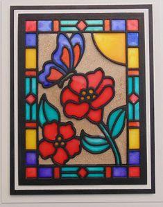 Inky Finger Zone: Butterfly Stained Glass Window plus a few extra bi...