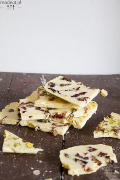 vegan white chocOlate with sun-dried tomatoes and pistachios