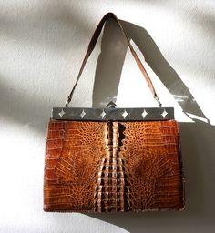 Vintage Handtasche | 30er Jahre | Art Deco | Kroko von VickyVintage auf DaWanda.com