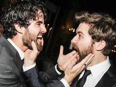 Darren Criss & Matt Morrison reunite at Finding Neverland's in Broadway opening night
