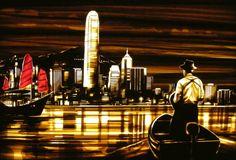 Tape art by Max Zorn - Hong Kong Arrival